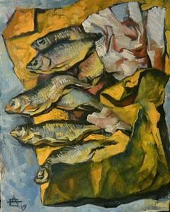 """Рыбы на желтой бумаге"""