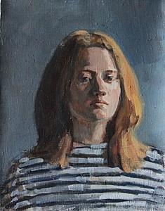 Портрет девушки в тельняшке