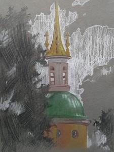 Пленэр, купол Михайловского замка