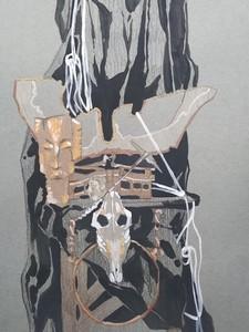 Натюрморт с черепом. Зарисовка