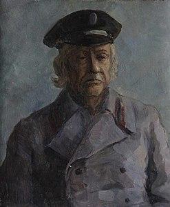 Портрет дедушки в фуражке