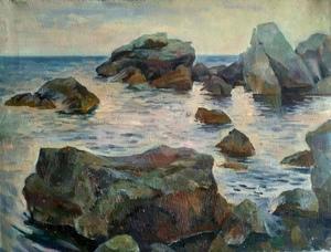 Камни на детском пляже