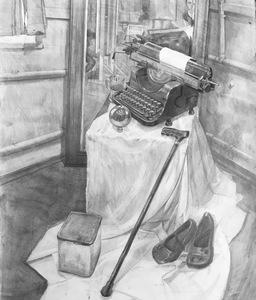 Натюрморт с пишущей машинкой
