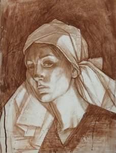 Девушка в платке