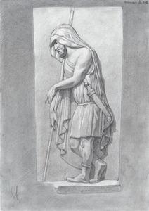 Рисунок гипсового слепка с античного барельефа