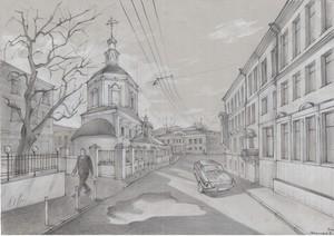 Рисунок улицы