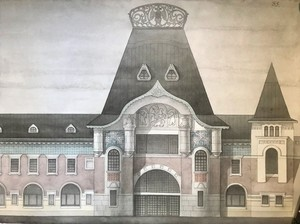 Фасад Ярославского вокзала