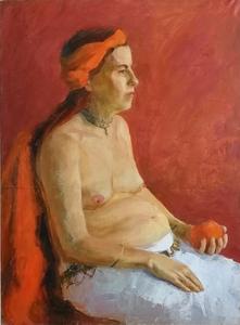 портрет с апельсином