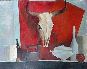 Натюрморт с коровьим черепом