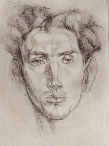 Портрет (свободная копия Н. Фешина)