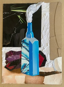 Впечатление от ярко-синей бутылочки