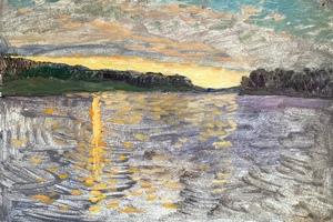 «Закат на озере»