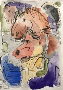 Кони и корова