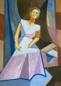 Дама в платье