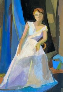 Дама в белом платье