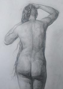 Обнаженная фигура спиной