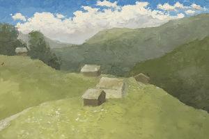Дома на холме