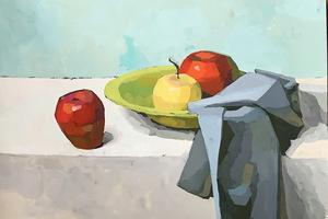 Яблоки в тарелке