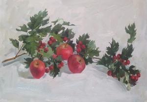 яблоки и боярышник