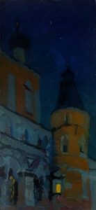 Ночь. Монастырь