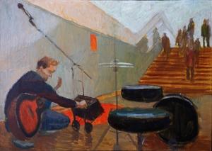 Музыка в метро. В переходе №2