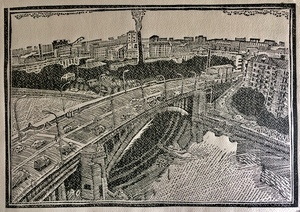Мост через Москва-реку... (эффект заснеженности)