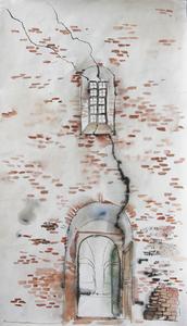 Белый храм.Трещина в стене