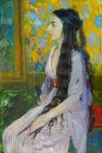 Портрет длинноволосой девушки