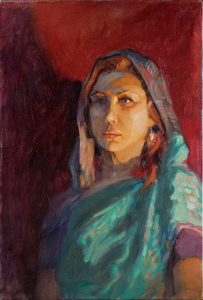 Портрет в накидке