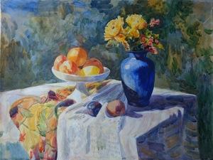 Натюрморт с синей вазой