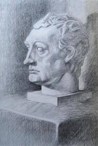 Гипсовая голова Гаттамелаты