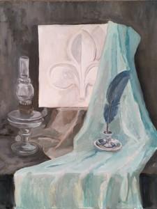 Натюрморт с лампой и пером
