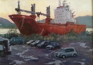старый корабль. Мурманск