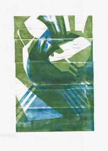 Серия иллюстраций к музыкальному альбому Animal Collective. Синий Альбом. Лист 2
