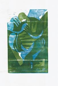 Серия иллюстраций к музыкальному альбому Animal Collective. Синий Альбом. Лист 1