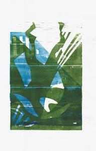 Серия иллюстраций к музыкальному альбому Animal Collective. Синий Альбом. Лист 3